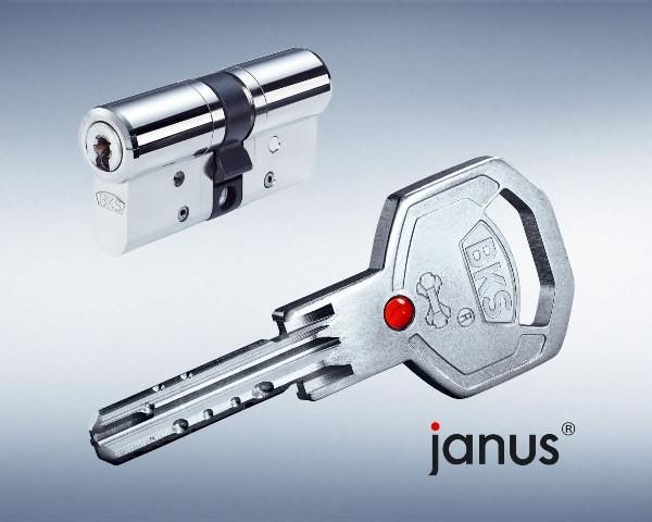 BKS Janus 46 Doppel-Schliesszylinder / Version Messing vernickelt