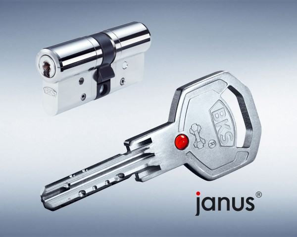 BKS Janus 46 VDS Doppel-Schliesszylinder Version Chrom-Nickel-Stahl